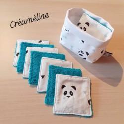 Têtes panda turquoise